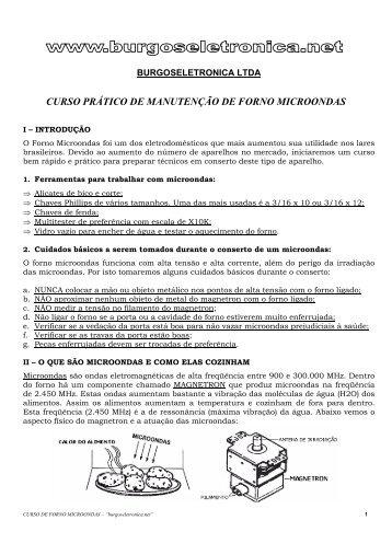 forno microondas - Burgoseletronica