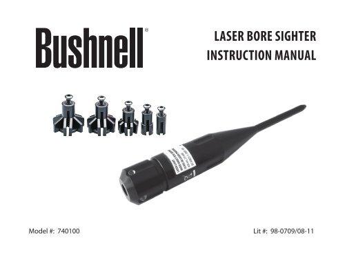 CAL .22 a .50 Calibro 650nm Red Dot Laser Sight Bore Sighter calibrare