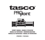 Owner's Manual • Manuel d'utilisatiOn Manual del prOpietariO - Tasco