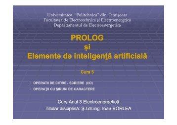 Exemplu - Facultatea de Electrotehnică şi Electroenergetică