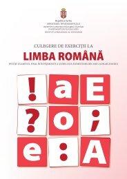 Culegere de exerciţii la limba română