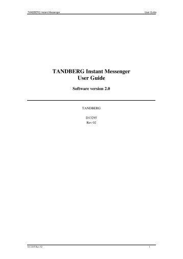 tandberg quick set c20 c20plus videoconferencia rh yumpu com Tandberg C20 Administrator Guide tandberg c20 user manual