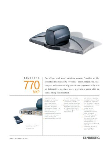 tandberg 1500 mxp videokonferenz videoconferencia rh yumpu com Tandberg 1700 Tandberg 6000 MXP