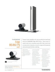 (Tandberg) Edge 75/85/95 MXP - Videoconferencia