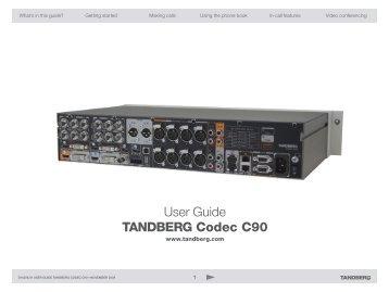 cisco tandberg codec c60 admin guide vidofon rh yumpu com Cisco C60 Manual Cisco C60 Data Sheet