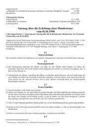 Satzung über die Erhebung einer Hundesteuer vom ... - Vierkirchen