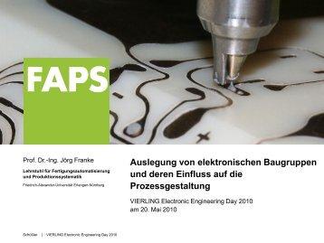 Auslegung von elektronischen Baugruppen und deren ... - Vierling