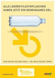Zum Info-Folder der ARA über die Plastikflaschensammlung - Villach