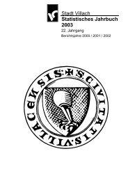 Stadt Villach Statistisches Jahrbuch 2003