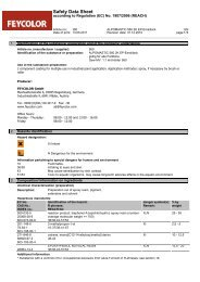 Safety Data Sheet - Feycolor Gmbh