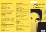 Kursprogramm 2010/2011 - Villach