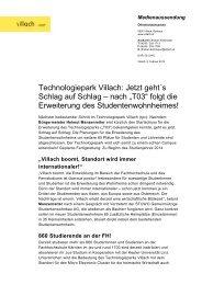 """Technologiepark Villach: Jetzt geht´s Schlag auf Schlag – nach """"T03 ..."""