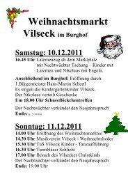Weihnachtsmarkt 2010-Vorderseite 1 - bei der Stadt Vilseck