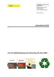 Jahresbericht 2010 Von der Abfallentsorgung zum ... - Villach