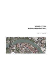 KONSULTATION Wettbewerb Lederergasse - Villach