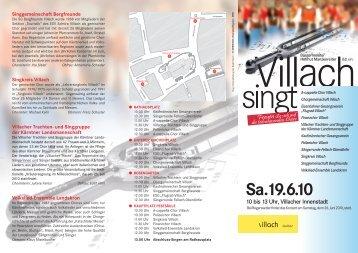 """Info-Folder """"Villach singt"""""""