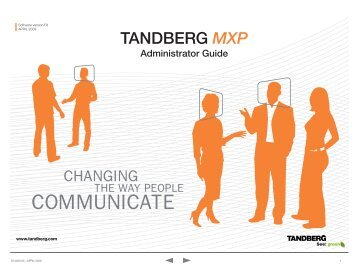 Vcc competence centre for video conference services: tandberg.