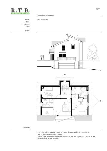 Descriptif sommaire individuel - Descriptif construction maison individuelle ...