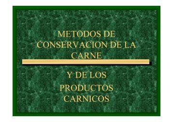 metodos de conservac..