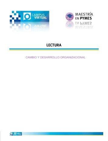 CAMBIO Y DESARROLLO ORGANIZACIONAL - Uovirtual.com.mx