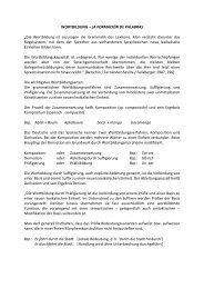 """WORTBILDUNG – LA FORMACIÓN DE PALABRAS """"Die ..."""