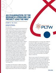 AN EXAMINATION OF THE RESEARCH LITERATURE ON PROJECT LEAD THE WAY