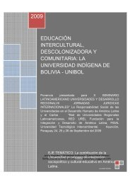 la universidad indígena de bolivia - unibol