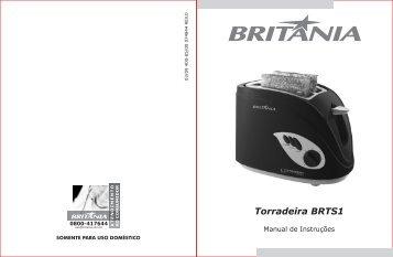 400 05 00 Rev0 Folheto de Instruções Torradeira BRTS1 - Colombo