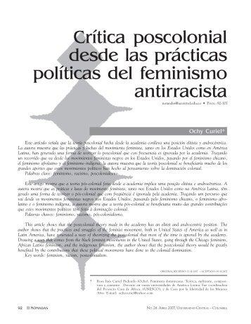 Critica poscolonial desde las prácticas políticas del ... - Dialnet