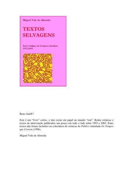 """3512d721fa8848 Bem-vind@! Este é um """"livro"""" - Miguel Vale de Almeida"""