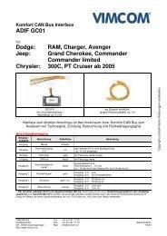 RAM, Charger, Avenger Jeep: Grand Cherokee ... - Vimcom