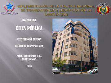 2da. CAPACITACION - ETICA PUBLICA - Ministerio de Defensa
