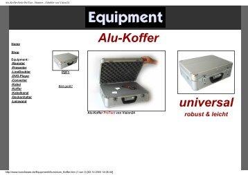 Alu-Koffer-Serie ProTect - Beamer -  Zubehör von Vision24