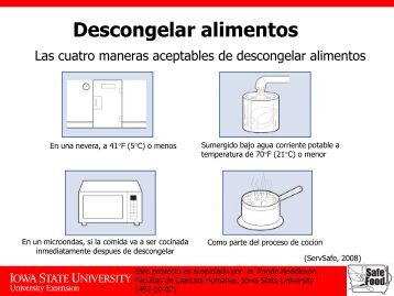 Descongelar alimentos - Iowa State University Extension and ...
