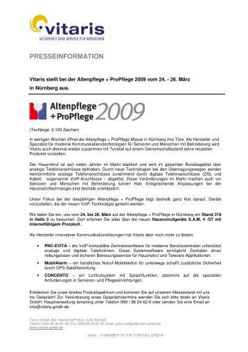 Pressemitteilung_Altenpflege 2009_0109 - Vitaris GmbH