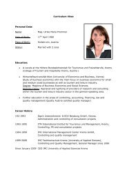 Curriculum Vitae Personal Data: Name: Mag. Ulrike Maria Prommer ...