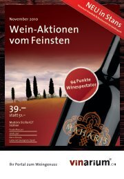 39.– statt 51.– Wein-Aktionen vom Feinsten - Schaller VINarium