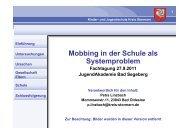 Mobbing in der Schule als Systemproblem