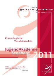 Chronologische Terminübersicht - Verein für Jugend