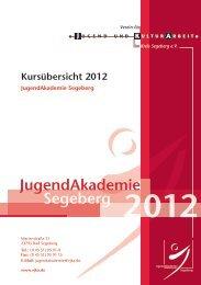 Kursübersicht 2012 - Verein für Jugend