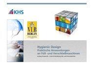 Hygienic Design – Praktische Anwendung