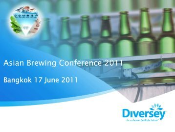 Sustainable brewing using innovative cleaning technologies. Han