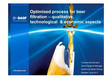 Optimised process for beer filtration – qualitative, technological ...