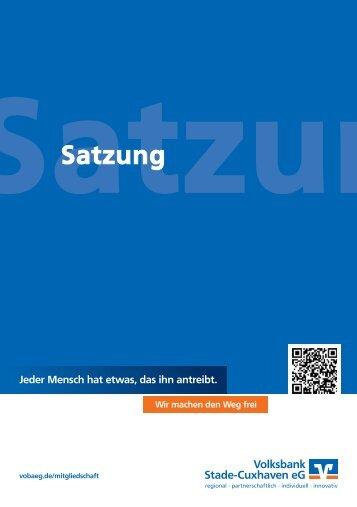 Satzung als PDF downloaden - Volksbank Stade-Cuxhaven eG