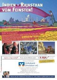 Indien - Rajasthan vom Feinsten! - Volksbank Dinslaken eG