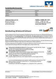 Bestellformular - Volksbank Odenwald eG