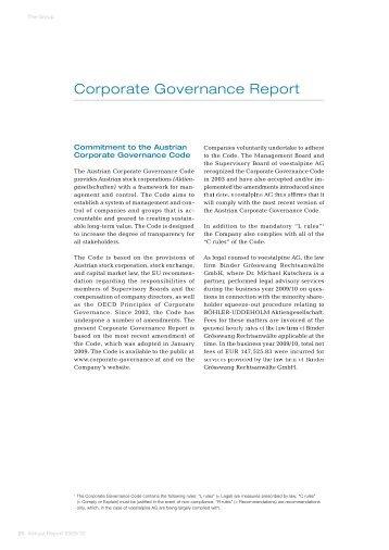 Corporate Governance Report - voestalpine