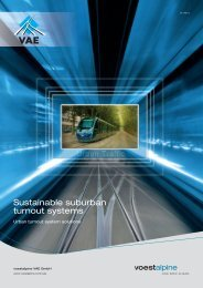 Sustainable suburban turnout systems - voestalpine
