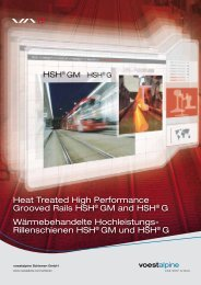 Heat Treated High Performance Grooved Rails HSH ... - voestalpine