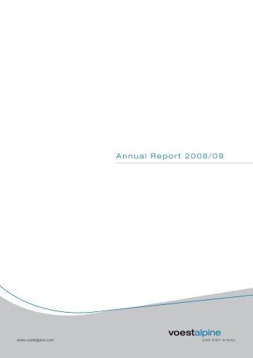 Download Annual Report 2008 09 PDF - voestalpine